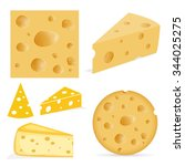 cheese with holes | Shutterstock .eps vector #344025275