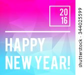 square typography new year... | Shutterstock .eps vector #344025599