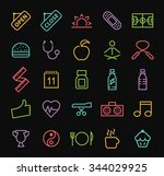 set of elegant universal... | Shutterstock .eps vector #344029925