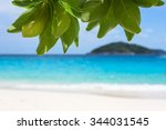 beautiful landscapes blue sea... | Shutterstock . vector #344031545