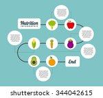 nutrition concept design ... | Shutterstock .eps vector #344042615