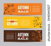 autumn vector billboards ... | Shutterstock .eps vector #344044307