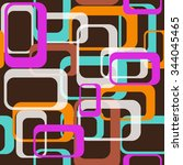 70's classic retro background... | Shutterstock .eps vector #344045465
