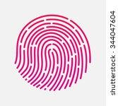 circle touch fingerprint id app ... | Shutterstock .eps vector #344047604