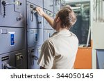 a control room engineer. power... | Shutterstock . vector #344050145