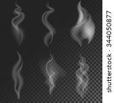 set of vector smoke swirls....   Shutterstock .eps vector #344050877