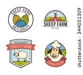 vector lamb logos. quality... | Shutterstock .eps vector #344051309