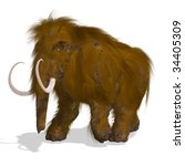 Постер, плакат: Rendering of a Mammoth
