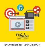 video marketing design  vector...   Shutterstock .eps vector #344055974