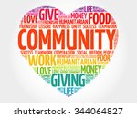 community word cloud  heart... | Shutterstock .eps vector #344064827