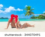 man and woman romantic couple... | Shutterstock . vector #344070491