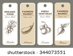 hand drawn label set with...   Shutterstock .eps vector #344073551