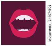 vector illustration of woman...   Shutterstock .eps vector #344074901