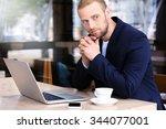 young attractive businessman...   Shutterstock . vector #344077001