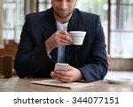 young attractive businessman...   Shutterstock . vector #344077151