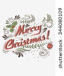 typographical greeting card.... | Shutterstock .eps vector #344080109