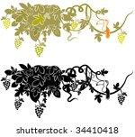 grape | Shutterstock .eps vector #34410418