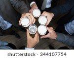 cheers to success   top view of ... | Shutterstock . vector #344107754