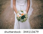 bouquet in bride s hands | Shutterstock . vector #344113679