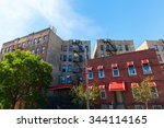 apartment buildings in hunts... | Shutterstock . vector #344114165