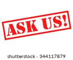 ask us  red rubber stamp over a ... | Shutterstock . vector #344117879