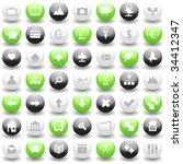 collection of different icons... | Shutterstock .eps vector #34412347