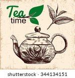 tea ceremony. vector... | Shutterstock .eps vector #344134151