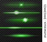 Green Horizontal Lens Flares...
