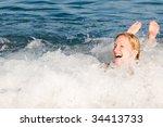 girl in the sea foam   Shutterstock . vector #34413733