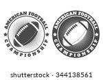 american football labels ...   Shutterstock .eps vector #344138561