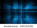digital technology abstract... | Shutterstock . vector #344143181