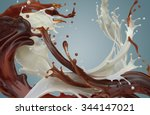 abstract mixed chocolate... | Shutterstock . vector #344147021