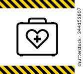 icon of medical kit | Shutterstock .eps vector #344153807
