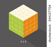 vector cube toy puzzle  4x4... | Shutterstock .eps vector #344157704
