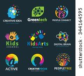 logo set logo collection idea... | Shutterstock .eps vector #344164595