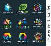 creative idea logo collection ... | Shutterstock .eps vector #344164595