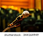microphone voice speaker on... | Shutterstock . vector #344164949