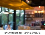 blur coffee cafe shop with... | Shutterstock . vector #344169071