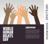 human rights day  poster ...   Shutterstock .eps vector #344173184