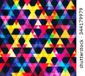rainbow colors triangle.... | Shutterstock .eps vector #344179979