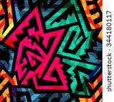 bright tribal seamless pattern.   Shutterstock .eps vector #344180117
