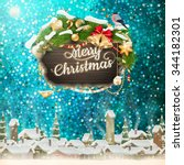 christmas abstract template.... | Shutterstock .eps vector #344182301