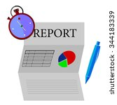 financial report dateline   | Shutterstock .eps vector #344183339