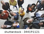 group of people team diversity... | Shutterstock . vector #344191121