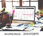 calender planner organization... | Shutterstock . vector #344193899