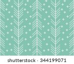knitted turquoise seamless... | Shutterstock .eps vector #344199071