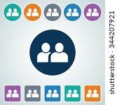 icon of user in multi color... | Shutterstock .eps vector #344207921