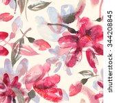 Watercolor Flowers Seamless...