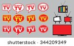 collection of as seen on tv... | Shutterstock .eps vector #344209349