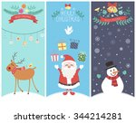 the cute christmas graphic... | Shutterstock .eps vector #344214281